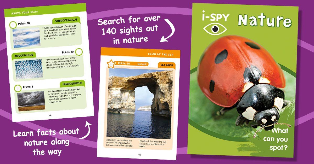 The outdoors is filled with all manner of amazing things. It might be cold but our pocket-sized guide to 'i-Spy Nature' will make the outdoors a lot more fun! #nature