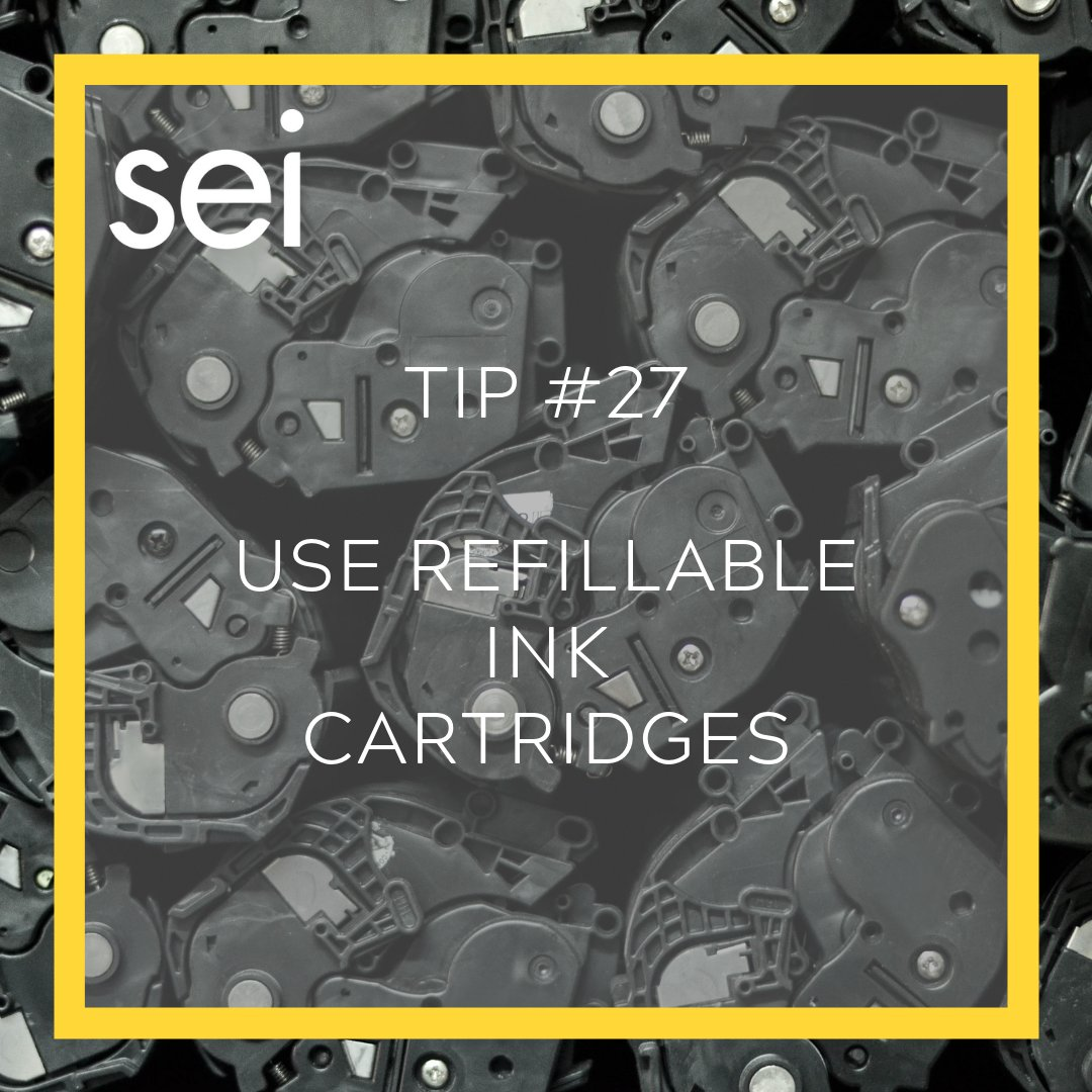 #TuesdayTip for a more sustainable lifestyle: Most brands offer refillable ink cartridges (with pick-up and delivery) for companies! . . . #nature #climatechange #lifestyle #sustainable