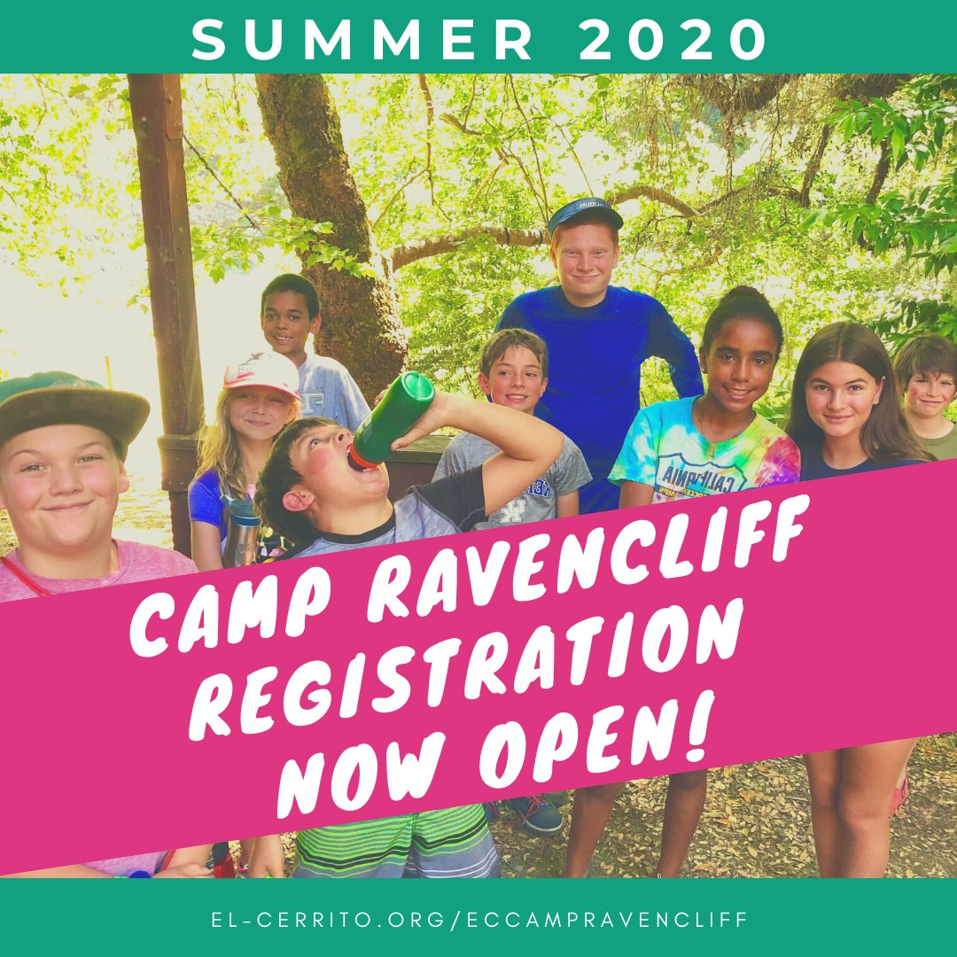 Registration for El Cerrito Camp Ravencliff is now OPEN! Join us for our 20th summer on the Eel River. All information can be found at  #summer #camp #rECsummer20 #youth #summercamp #thingstodo #nature #cityofelcerrito #recreationdepartment