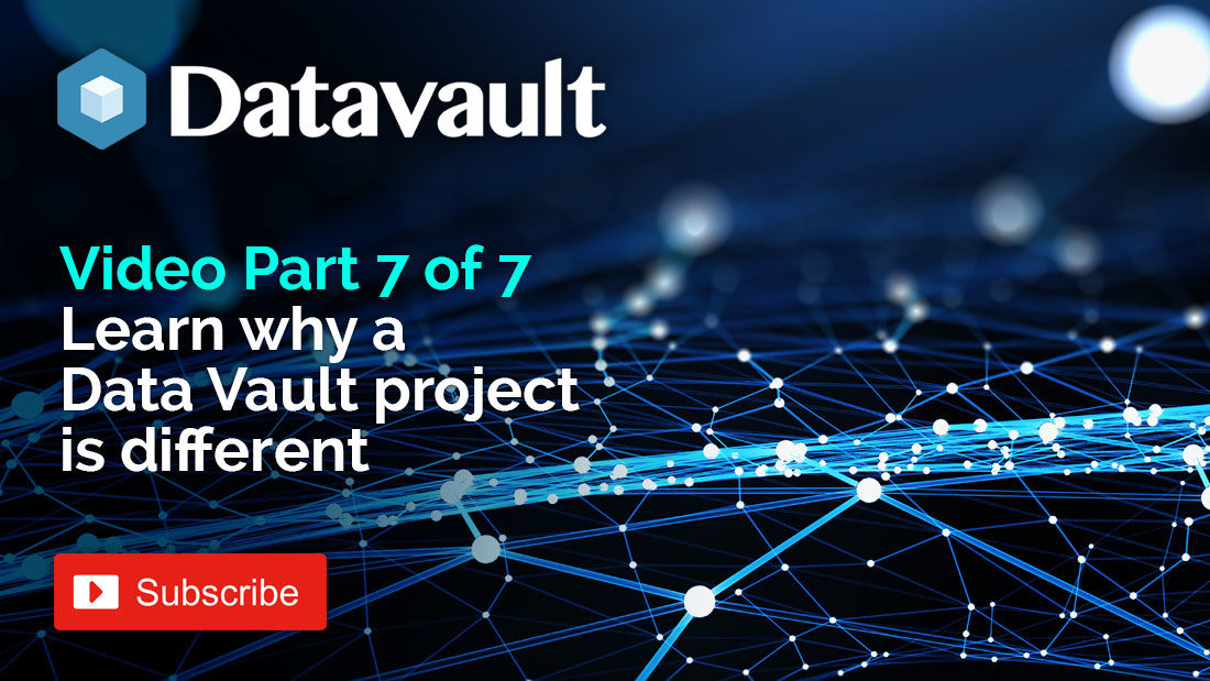 In this final @DataVault_UK #YouTube video we explain why a #DataVault project is different to a regular #Datawarehouse project. Watch here http://bit.ly/2Jf2iLK  #BusinessAnalytics #EnterpriseDataWarehouse #BI #Satellites #Hashing #BusinessIntelligence #SnowflakeDB #bigdatapic.twitter.com/t0qbmEGFr6