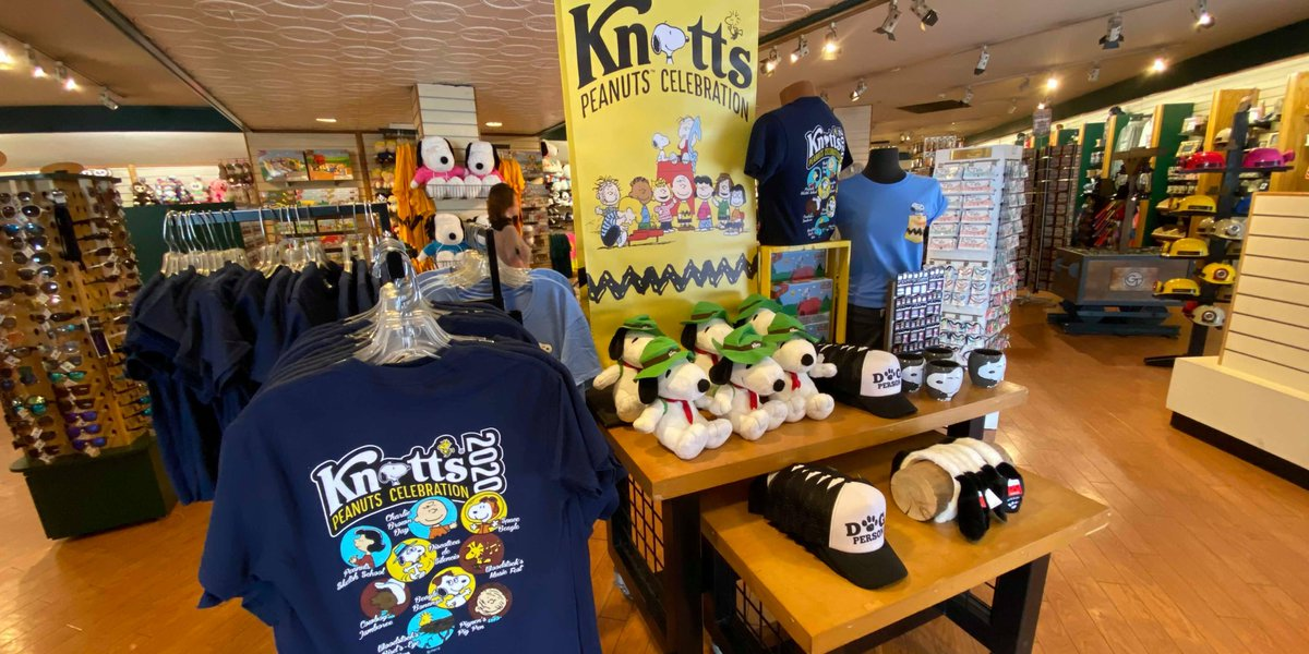 Knott S Berry Farm On Twitter Have You Picked Up Your Knottspeanutscelebration Shirt Yet Available At Various Merchandise Locations Including Cordy S Corner And Camp Snoopy Knott S Is Open From 10 A M To
