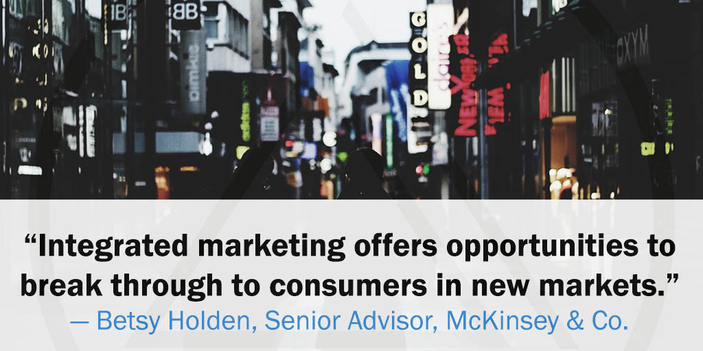 """Integrated marketing offers opportunities to break through to consumers in new markets."" -Betsy Holden, Senior Advisor, McKinsey & Co. #servingNJ #digitalagency #websitedesign #webdevelopment   #seo #ppc #photography #videography #grapghicdesign #logodesign #banners #flyerspic.twitter.com/KtFCFCvdBm"