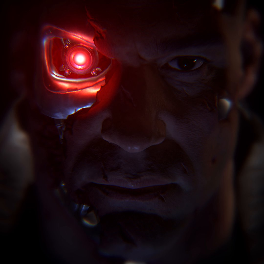 картинка терминатор с красным глазом