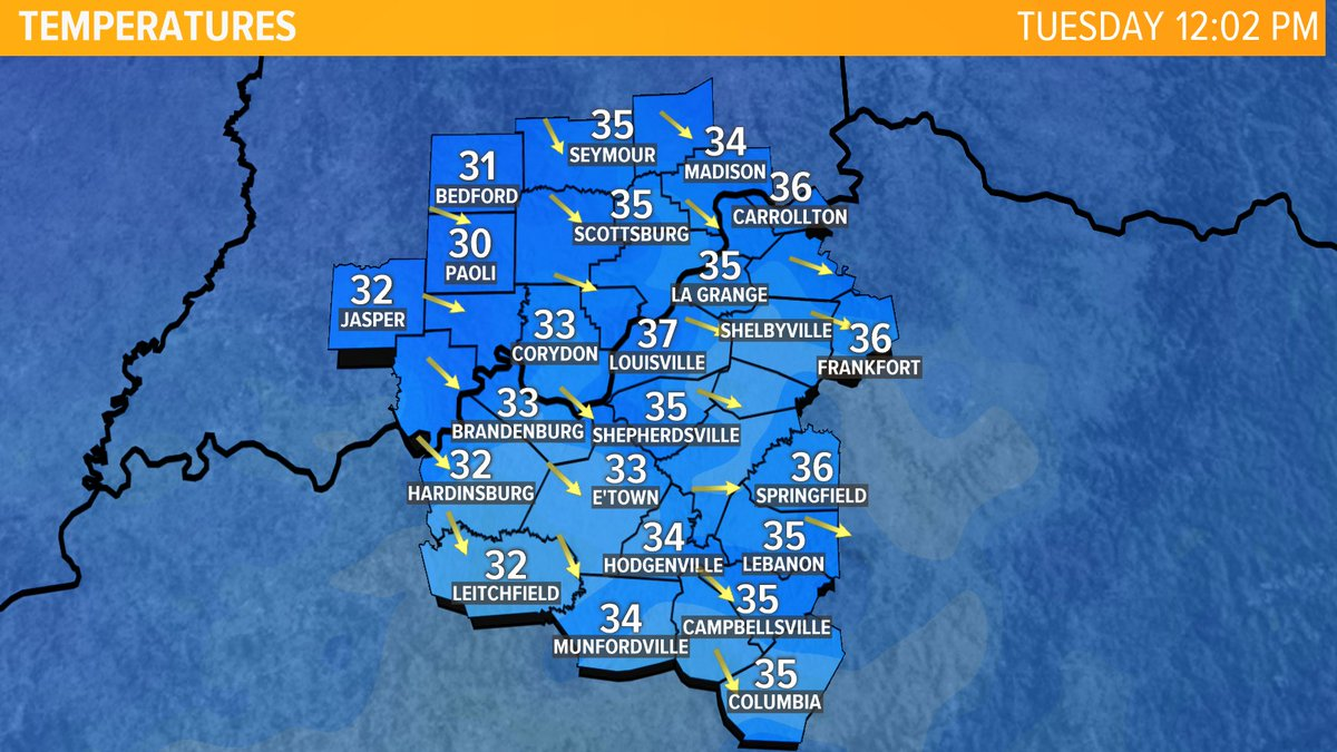 Here are our local temperatures across #Kentuckiana! Check out more weather info on my Facebook page at  http://www. facebook.com/WXkaitlynnfish      and at  http://www. whas11.com/weather     .  #WakeUp11 #WeatherBeast<br>http://pic.twitter.com/UdeiRFRMsg