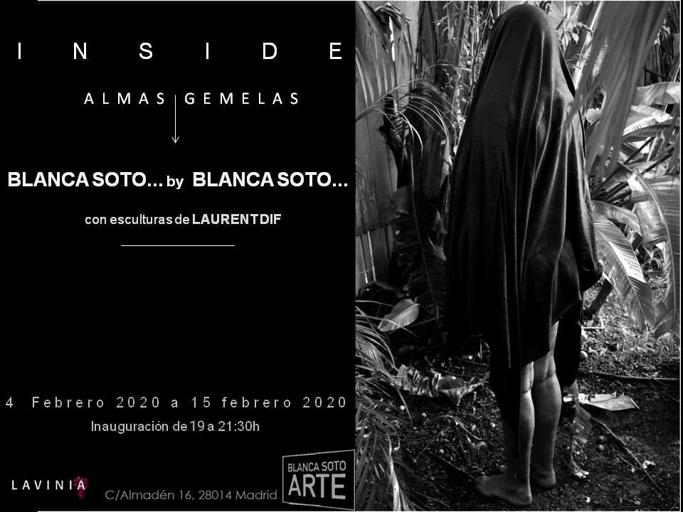 """""""INSIDE. Almas Gemelas"""" @BLANCASOTOTM by Blanca Soto con esculturas de @LaurentDif   #Exposición: de 04 a 15 febrero 2020 #Inauguración: 04 febrero 2020 de las 19:00 a las 21:30 h  #BlancaSoto #art #photography #cinema #Netflix #contemporaryart"""