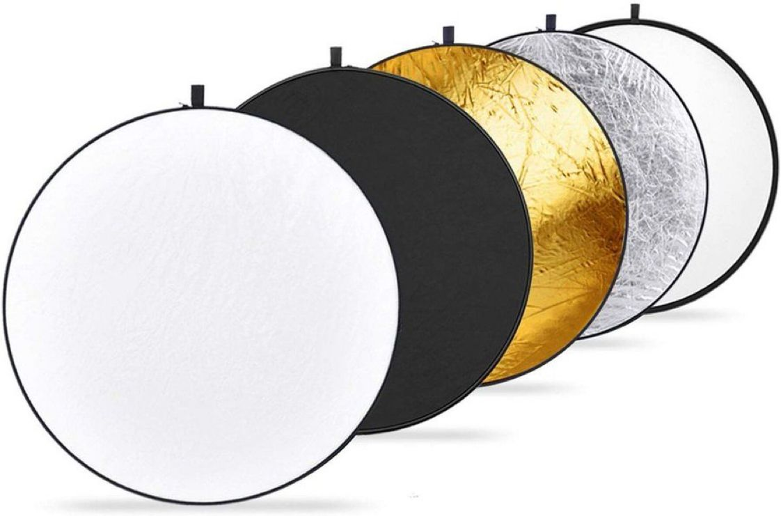 Neewer 43-inch / 110cm 5-in-1 Collapsible Multi-Disc Light Reflector with Bag    $14.85 with Free Prime Shipping    use code NWREF120 at checkout   #steals #deals #stealsanddeals