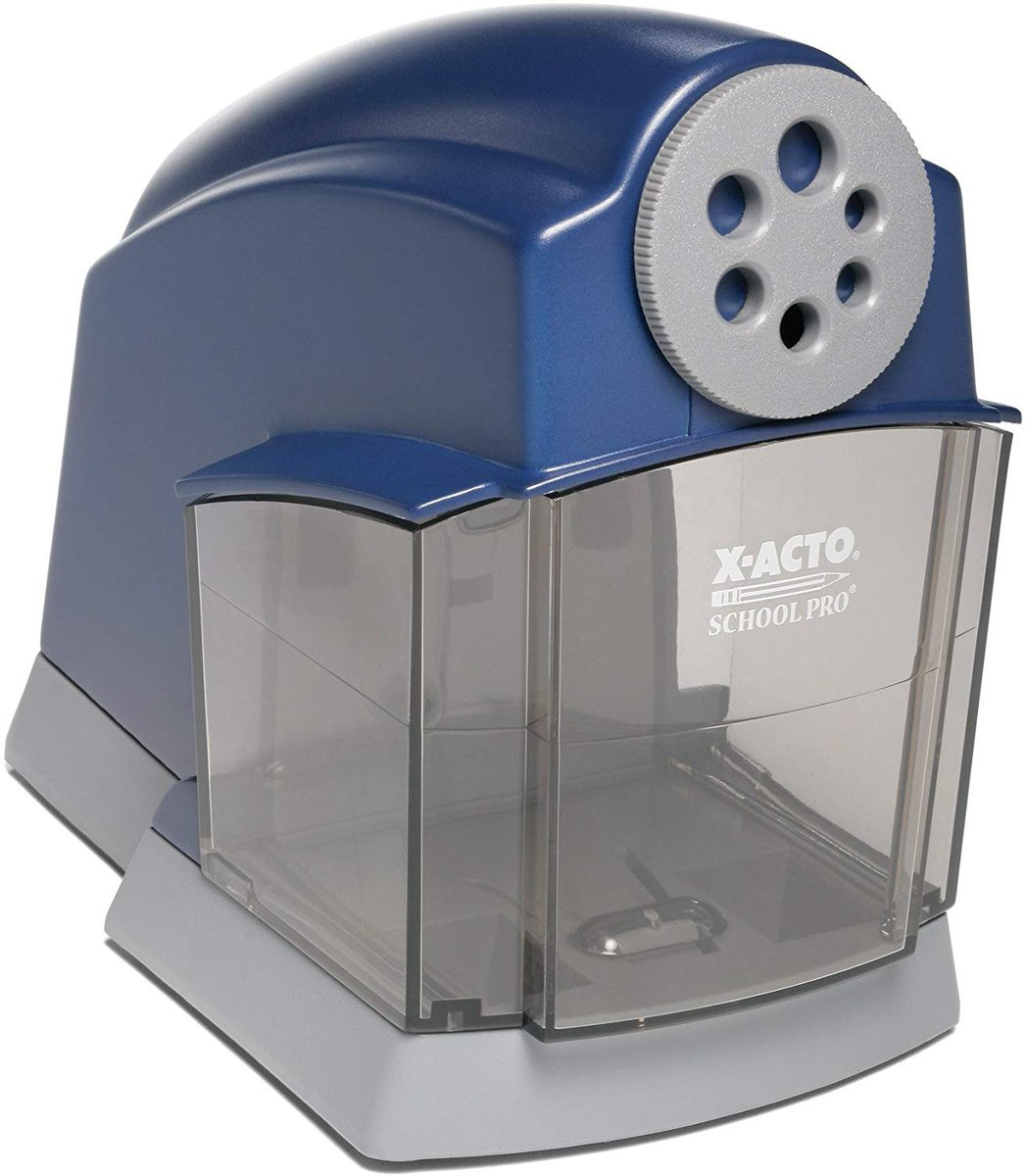 Lowest Price Ever!!! $27  X-ACTO School Pro Classroom Electric Pencil Sharpener, Blue,     #BwcDeals #Deals #dailydeals #pencil #sharpener