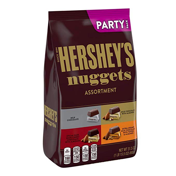 HERSHEY'S Nuggets Valentines Candy Assorted Chocolates, 1 Pound bag  $7.97 with Free Prime Shipping   #steals #deals #stealsanddeals