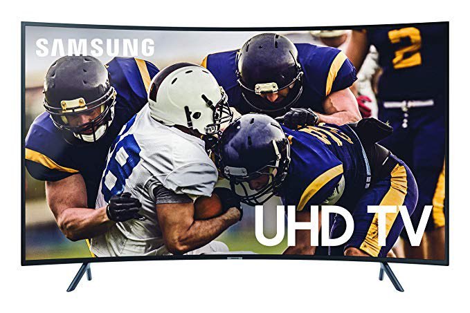 Samsung Curved 55-Inch 4K UHD 7 Series Ultra HD Smart TV with HDR and Alexa Compatibility (2019 Model)  $477.99 (Retail $700) with Free Shipping   #steals #deals #stealsanddeals