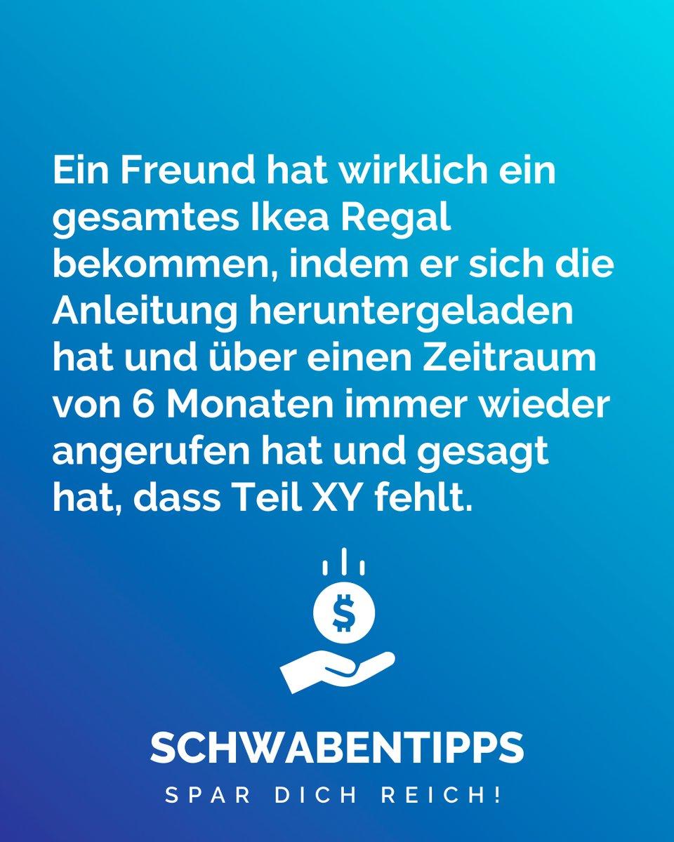 Schweden hassen diesen Trick  #schwabentipps #schwabentipp #spardichreich #sparen #jodel #jodeldeutschland #sparsam #schwabe #geizkragen #sparfuchs #spartipps #spartipp #witzig #bestofjodel #sprüche #spruch #genaumeinhumor #lustig #lustigesprüche #witzigesprüchepic.twitter.com/iZv3sjmFQ4
