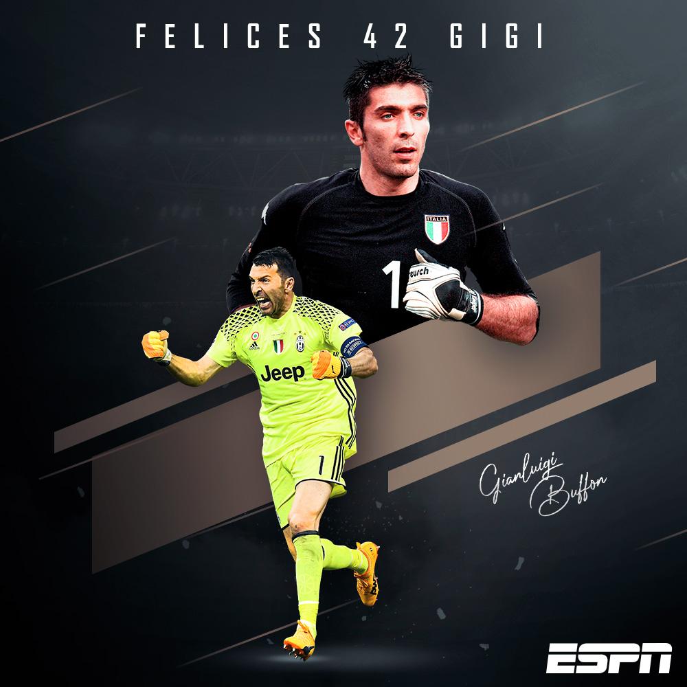¡Felicidades Gigi!   Gianluigi Buffon, leyenda del futbol internacional, celebra 42 años de vida   Un hombre que lo ha ganado prácticamente todo... excepto la Champions League.   ¿Qué le regalarías? pic.twitter.com/PzOYgtPf6a