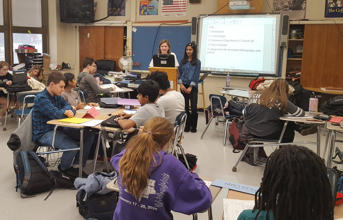 @LMSNation Model UN Team brought it today learning the official United Nations debate format!