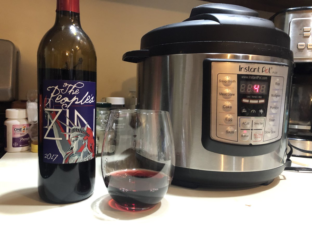 Yesterday was a 17 hour workday. Tonight calls for #vegan chili and #wine! #selfcare #cheers #instantpot