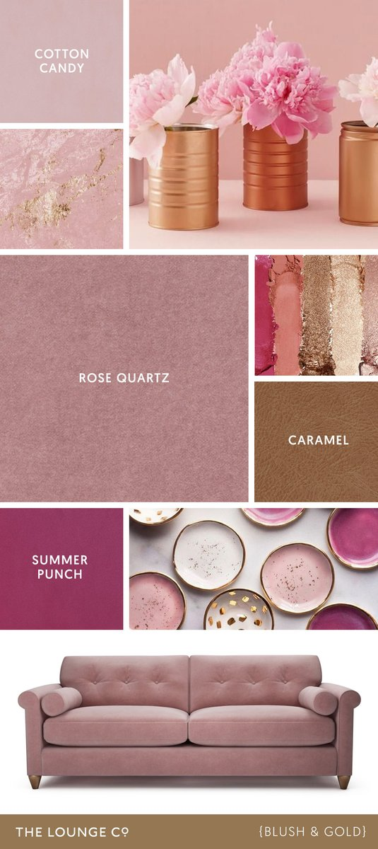 Colour Combinations | For a stylish tonal pairing that's feminine and elegant, choose blush pink and antique gold. A pretty combination that is light & uplifting. Order up to 8 FREE fabric swatches: http://bit.ly/tlc-fabrics #swatches #colourcombinations #blushpink #modernelegance pic.twitter.com/1LPvzySV6F