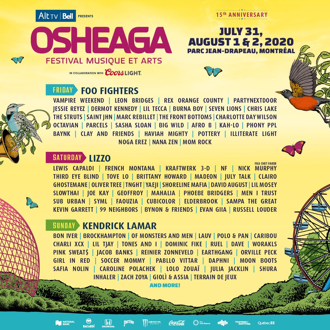 2020 Osheaga lineup