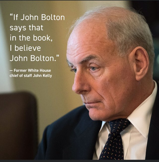 Even John Kelly agrees !!! #JohnBoltonMustTestify