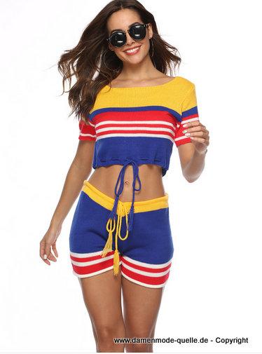 Damen Sommeroutfit 2020 Crop Top mit Short  Neu bei http://www.damenmode-quelle.de #mode #fashion #damenmode #sommermode #outfit #sommeroutfit #zweiteiler #sexypic.twitter.com/ANZBhQPq4B