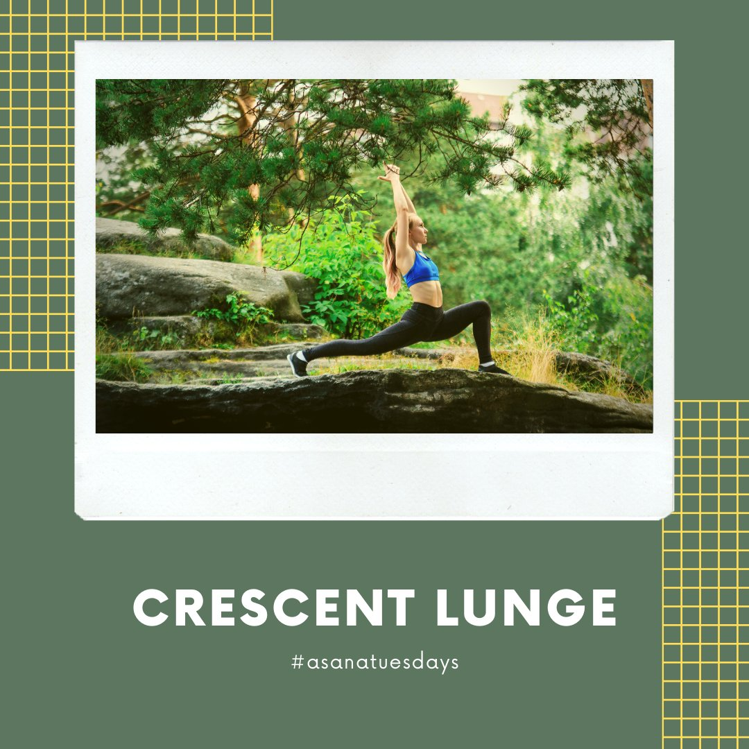 Crescent Lunge is a dynamic standing #yogapose that utilizes and integrates the muscles in your entire body. It helps the front of the body to expand, which increases energy and reduces fatigue.#yogaheals #yogasana #yogatherapy  #yogajourney #yogapractice pic.twitter.com/UoH782Oi36