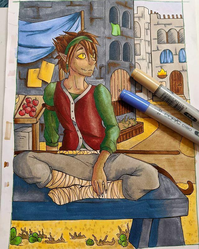 "I'm trying to ""get good"" with my copic markers  #art #artist #artistsonInstagram #drawing #drawingpractice #instaart #draw #myart  #sketchbook #sketches  #sketch  #fanart #anime #animeboys #animefanart #animeart  #pencil  #copicmarker  #oc #myoc #originalcharacterpic.twitter.com/QbaprBJVDW"