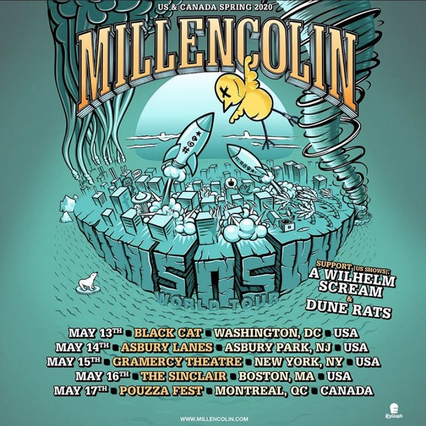 "Holy guacamole in May with @Millencolin and @DUNERATSS we gonna get our ""Bullion"" on on the way to @PouzzaFest 🤘🤘🤘🤘🤘"