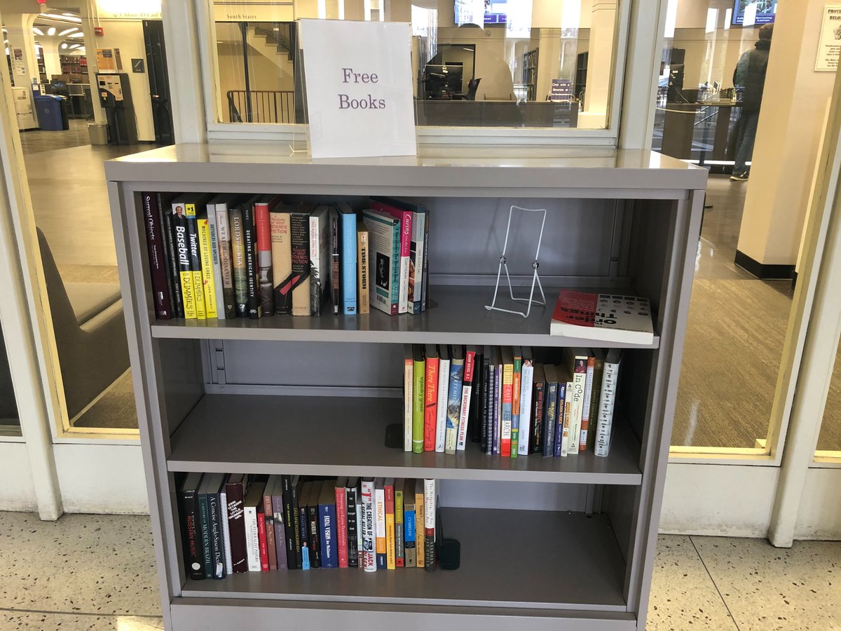 Ualbany Libraries On Twitter Good Morning Ualbany Love Free Books Help Yourself To These Titles We Couldn T Add To Our Collection You Can Find The Free Bookshelf In The Entryway To Access the libraries' physical collection during intersession. twitter
