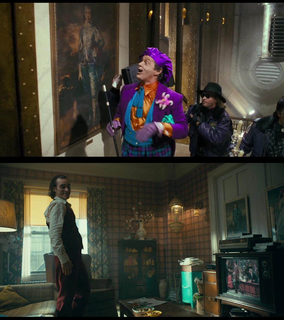 In Batman a painting the joker has his eyes on is featured in The joker pic.twitter.com/tho530HC17