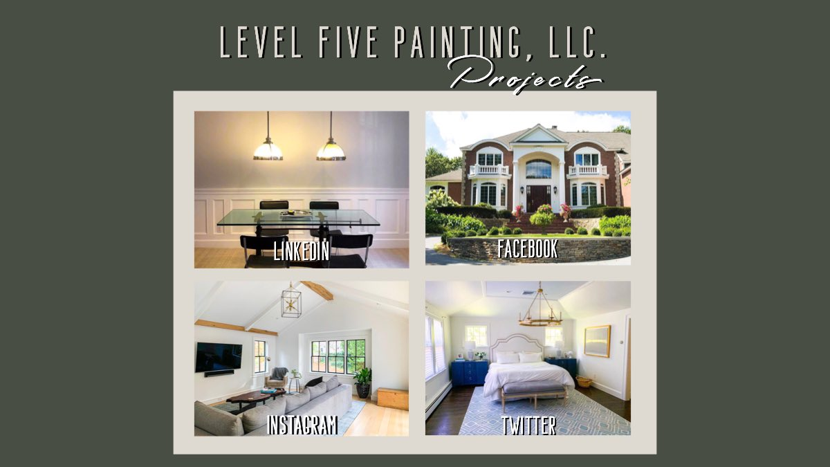 """Do you follow us on all our social media profiles? We are sure that it is a great opportunity for you to be inspired by our amazing projects. Choose your social media of preference by searching for us as """"level5pntgllc"""". #LevelFivePainting  #DollyPartonChallengepic.twitter.com/9Gi9e18TT1"""