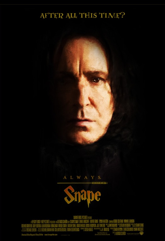 Sketch of Alan Rickman as Severus Snape from the Harry Potter series.