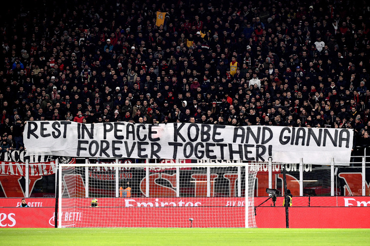 Banner unveiled by AC Milan fans in the 24th minute of their game.
