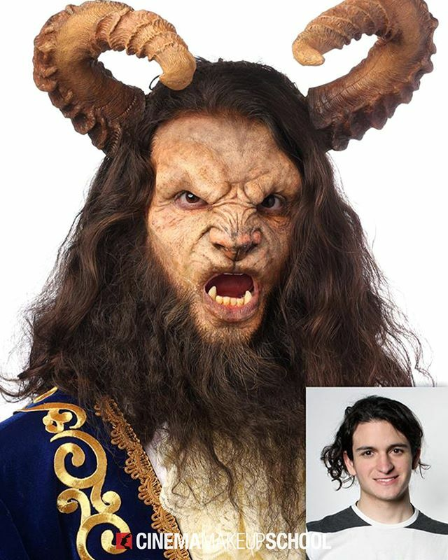 From Prince to Beast! 👑 #TransformationTuesday brought to you by graduate Wen Zheng (@wenzheng_art) on Jose Davalos. || #cinemamakeupschool #specialeffectsmakeup #beastcosplay https://t.co/57kabgWJPG https://t.co/9QcTjQJyLn