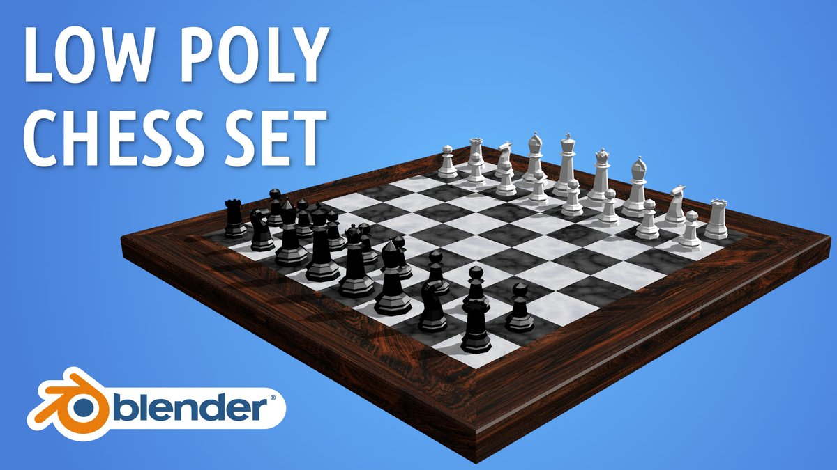 Low-Poly Chess Board & Pieces Made in Blender 3D  #b3d #blender3d #lowpoly https://t.co/eHGHC33b0B https://t.co/hZjUKxzyRf