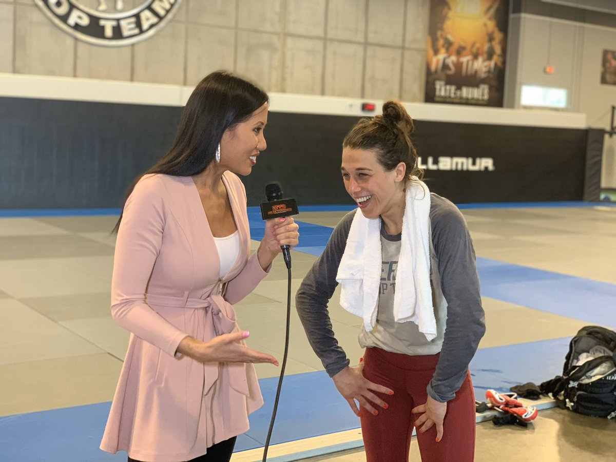 Great chatting with @joannamma today! #UFC248 https://t.co/O0HoUxz8np