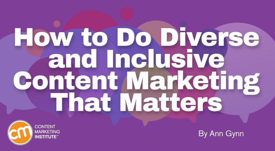 How to Do Diversity and Inclusive Content Marketing That Matters http://ow.ly/9gQj30qcsB3  via @CMIContentpic.twitter.com/PDpq7oJM7a