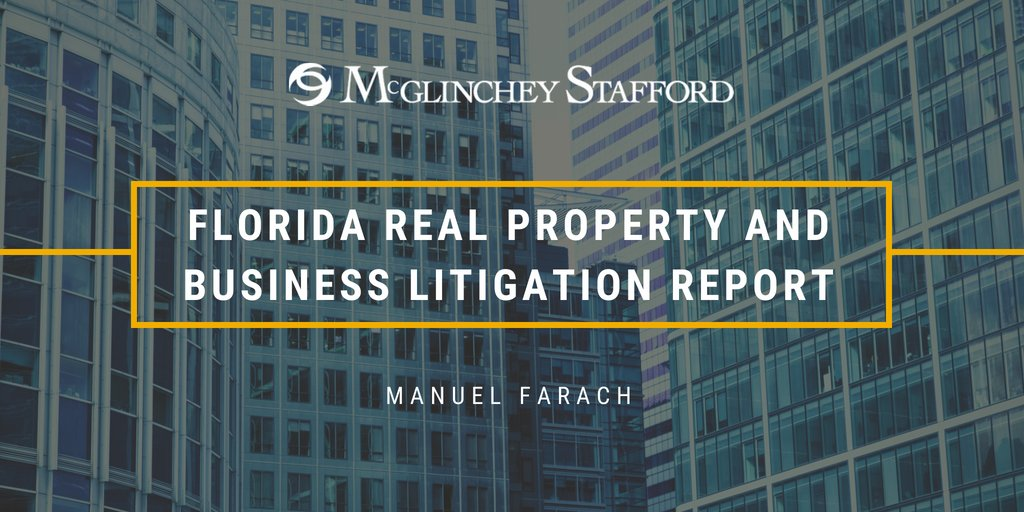 Visibility from a roadway - unlike leaseholds, easements, personal property, and incorporeal hereditaments - is not a recognized property right under Florida law. This and more from @ManuelFarach's Florida #RealProperty update. https://bit.ly/2U5miEm pic.twitter.com/ndA9UKysyp