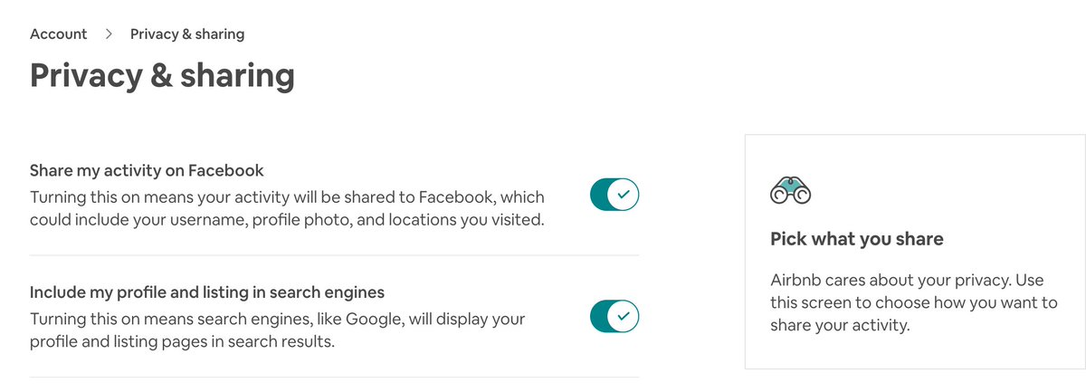 So despite switching off my off-@Facebook activity & clearing its history hours ago, when I just now accessed my @AirBnB account via web it was **still** sharing my activity with Facebook.  Both of AirBnB's 'privacy & sharing' settings should be *off* by default!  cc @BEUC #GDPRpic.twitter.com/sfLq2r6mCp