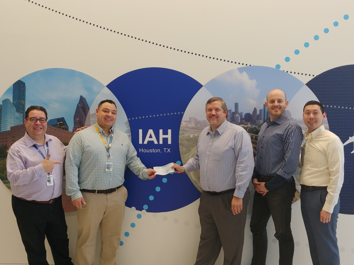 Our friends at Frequent Flyer Giving Group donating money to our We Care Fund. Thank you gentlemen!