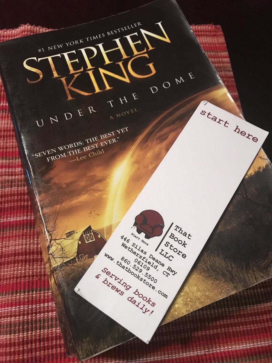 """Done! Thanks to @StephenKing for a """"pedal to the metal"""" thrill ride and to @ThatBookStoreCT for selling me this monster. If you're ever near Hartford, please stop by.pic.twitter.com/ZtL0C8WJtR"""