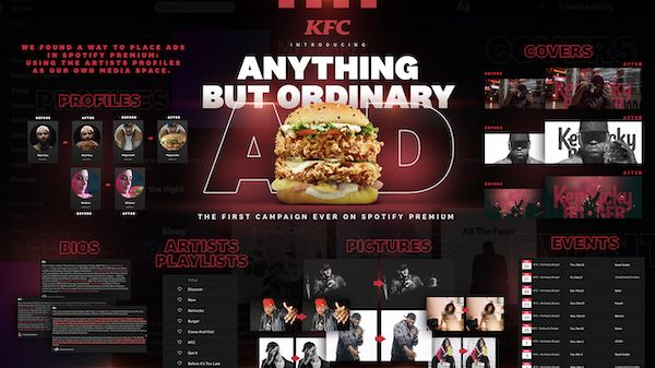 KFC sneaks ads onto Spotify Premium by taking over artist profiles