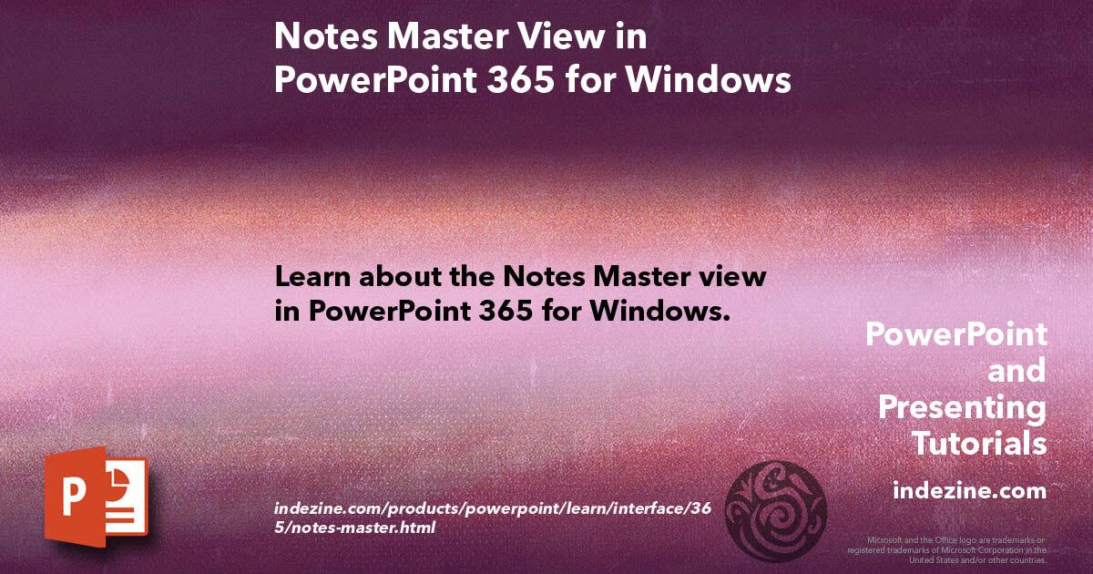 RT @Geetesh: Notes Master View in PowerPoint 365 for Windows #Indezine https://t.co/37rLt3fJX1 https://t.co/fJTmmZFm6L @Geetesh #Design