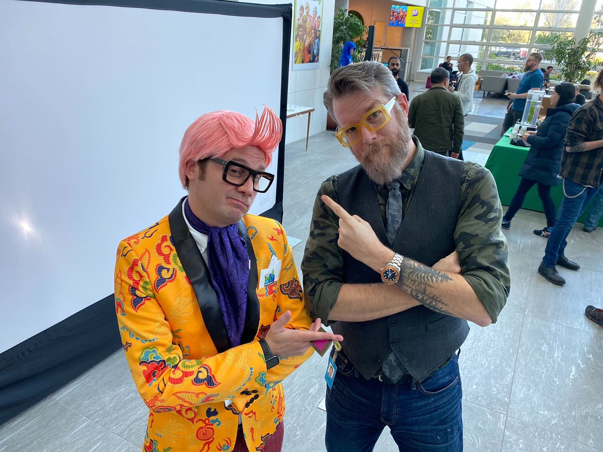 Hanging out with Izzy and we decided to switch glasses at The Sims 20th Birthday Bash at EA today #TheSims20thBirthday #TheSims #maxis #weareea