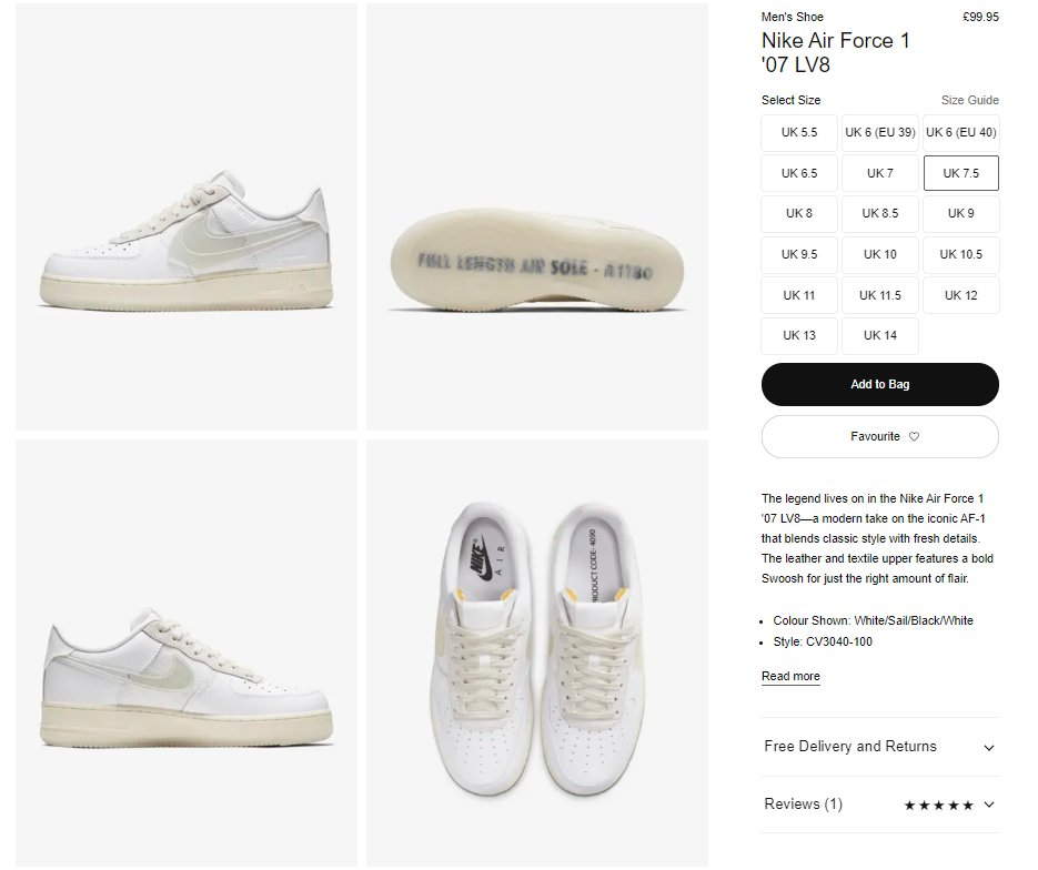 air force 1 white discount code