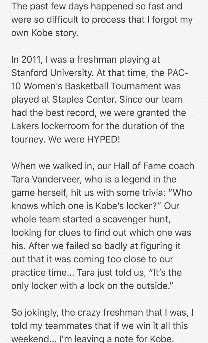 My Kobe story....