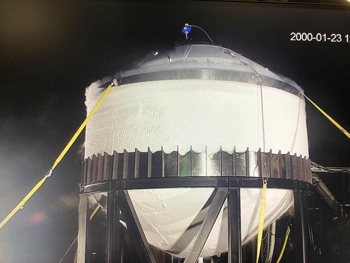 Liquid nitrogen cryogenic strength test underway ☃️