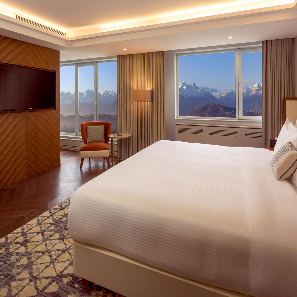 Lavish, spacious and awe-inspiring views, our Executive Suite will leave you with the most memorable stay. • #sheratonbishkek #visitbishkek  #suite #comfort #instagood #instadaily #travelgram #bestoftheday #luxurytravel #betterwhenshared #sheratonhotels #hotels #bishkek