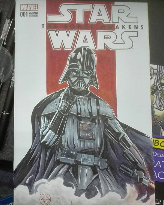 @andreabroccardo does an awesome #darthvader #commission #sketch for @tokyocomiccon 2019! #anime #art #arts #artist #artsy #artistsoninstagram #artwork #batman #bestoftheday #comic #comics #dccomics #disney #draw #drawing #drawings #illustration #manga #…