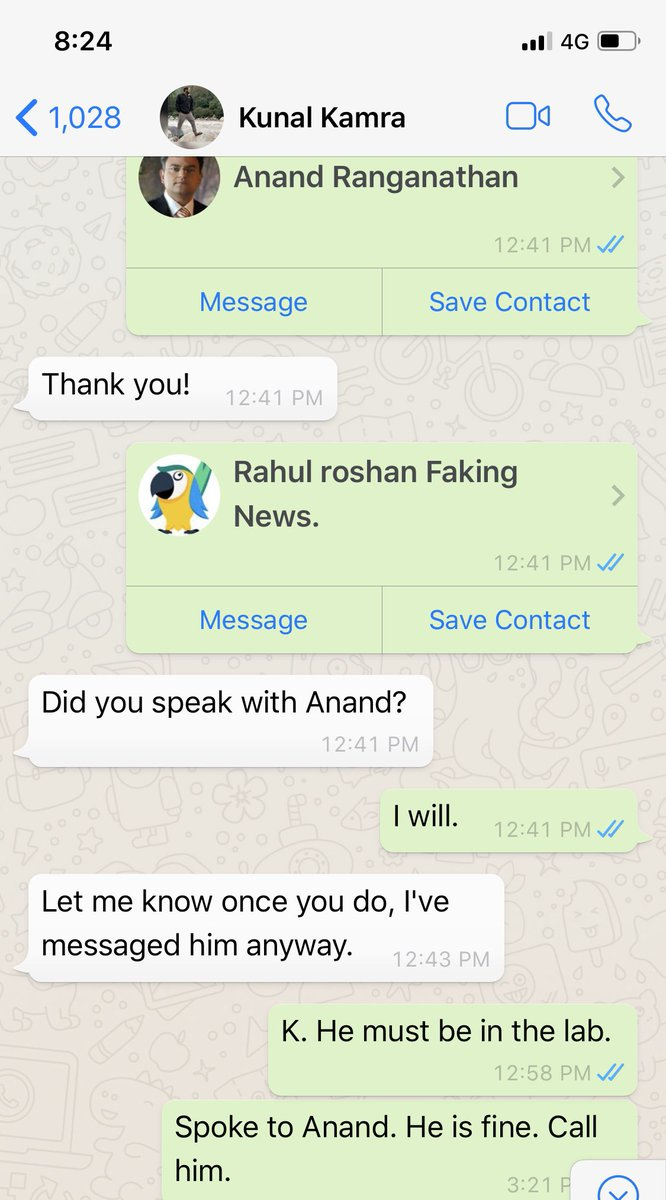 2 yrs ago, Kamra chased me to do a video interview. He asked me to help him get @ARanganathan72 or @rahulroushan to be with me. I helped him and he confirmed that Anand will be with me. Then he called and said why dilute, it will be my solo interview. I said ok. 2/n