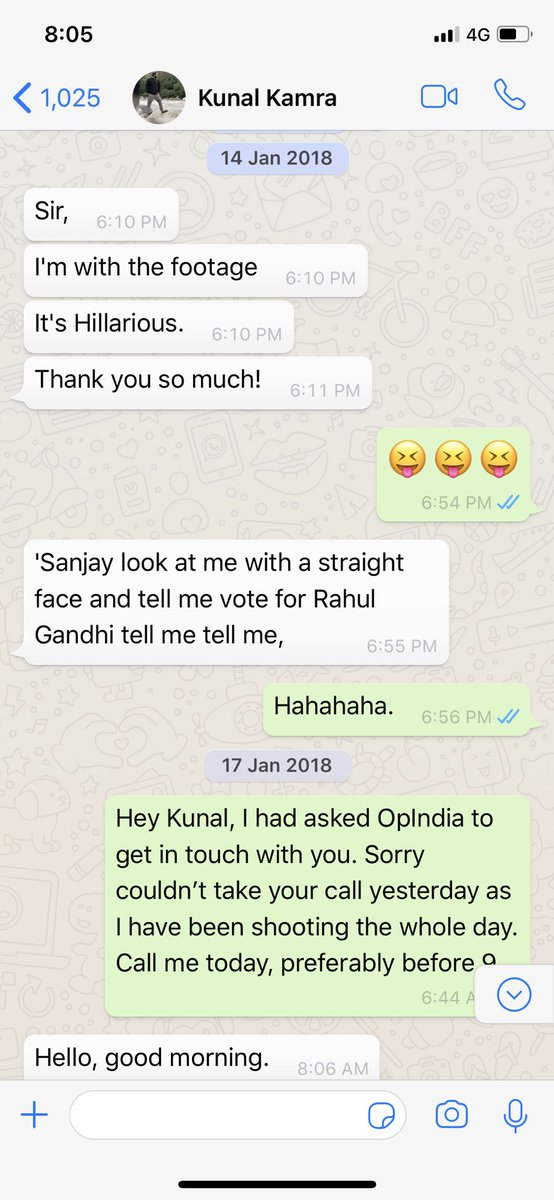 'Lost the hard disc' is the biggest lie as he texted me while editing, quoting my one liners.Then he wanted his interview with @rahulroushan of @OpIndia_com at any cost, which I tried.Last he said, he sent tapes to someone in Delhi for approval.The I/v was never shown 7/n