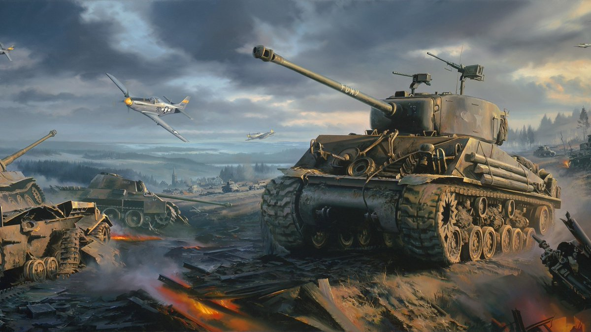 This one of the best of WW2 art pieces out there I got to say! When I see this picture I always think of War Thunder!!! #WW2 #WarThunder #WW2art