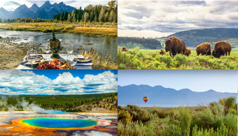 Explore two iconic national parks—#Yellowstone and #GrandTeton—on a four-night, all-inclusive boutique expedition. Enjoy wildlife tours, a hot air balloon flight, whitewater rafting, and stargazing. View this experience and nine more launching today at http://bit.ly/jan2020experiences …pic.twitter.com/lrZEdQf1wi