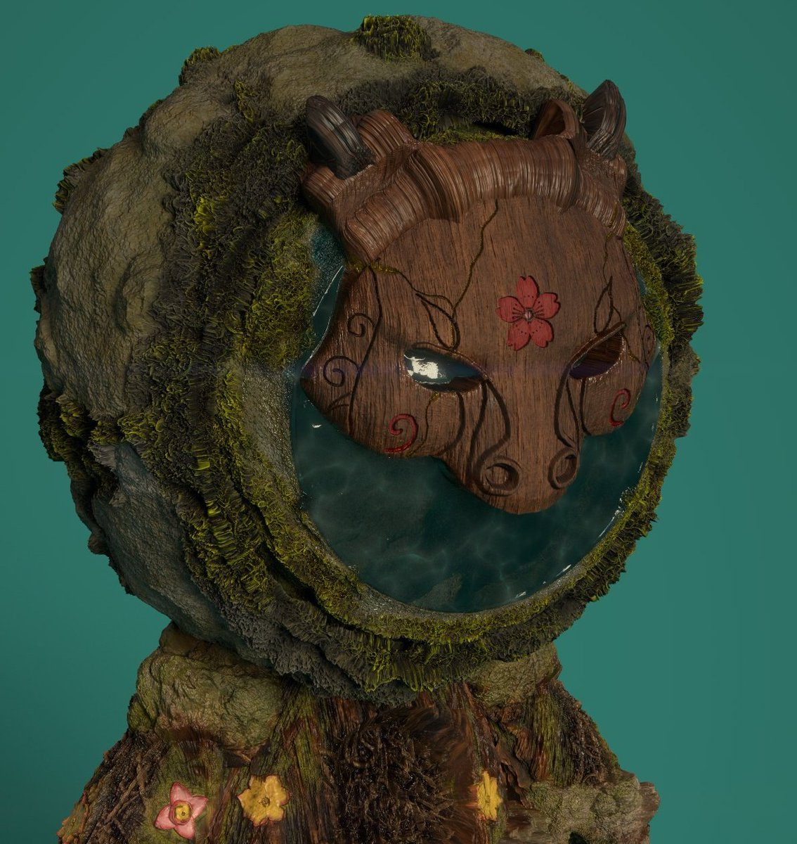 Small close up! I still need to work a bit more on the wood. But is time to add the final details to Mr Guardian #MeetMAT2 #games #substancepainter #shading #gameart #texturing #spirit #forest #guardianoftheforestpic.twitter.com/sfuULr0xys